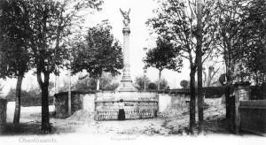 Ansicht des Platzes mit Siegessäule bis 1907