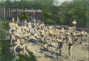 Bilz Licht-Luftbad 1908 - Sandgrube