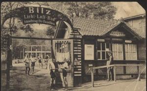 Eingang zur Familienabteilung, vor dem Ersten Weltkrieg